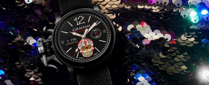Graham Chronofighter Vintage Ltd CALIBRE 2019 Calavera Dia de Muertos Day of the Dead