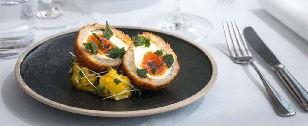 Roast Restaurant CALIBRE Scotch Egg with Piccalili