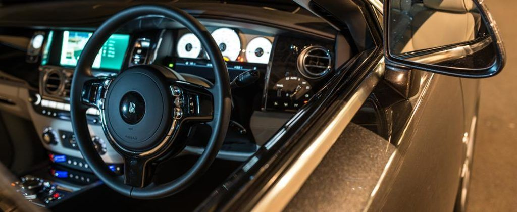 The Rolls-Royce Ghost balances modern technology and classic deign beautifully.