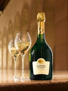 Taittinger Comtes de Champagne Blanc de Blancs is the perfect bottle to enjoy some Christmas drinks by yourself.