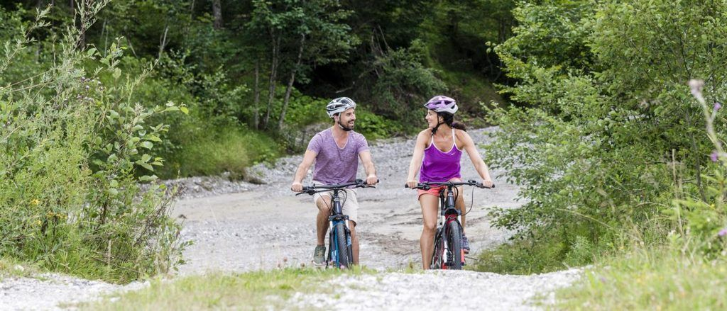 Taking an e-bike on an Alpine Summer ride