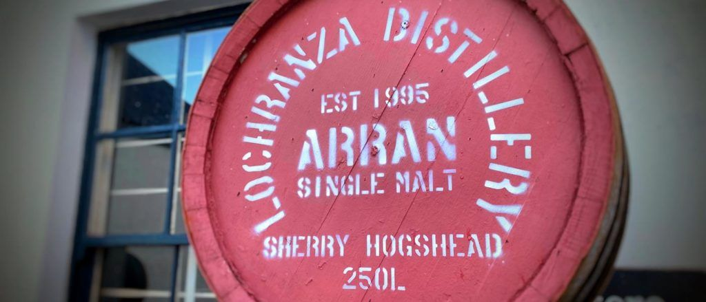 The Arran Distillery is difficult to miss!