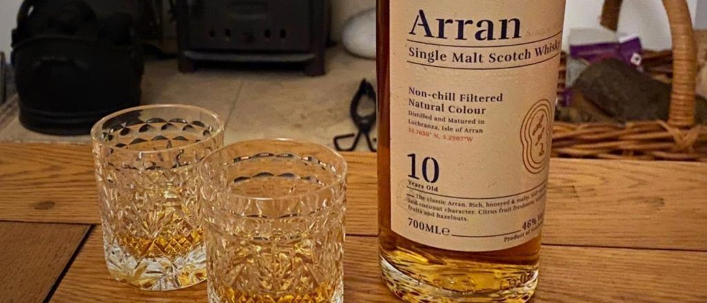 The Arran Distillery 10 Year Old Single Malt. The trophy for the trip.