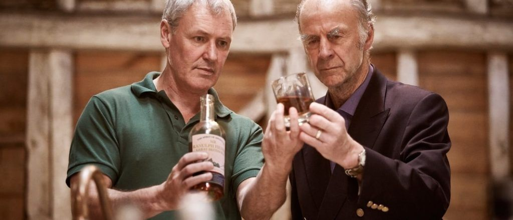 Sir Ranulph Fiennes with Dr John Walters, Master Distiller behind the Great British Rum.