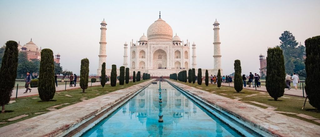 Great Rail Journeys stop at the Taj Mahal. Photo by WeRoad on Unsplash.