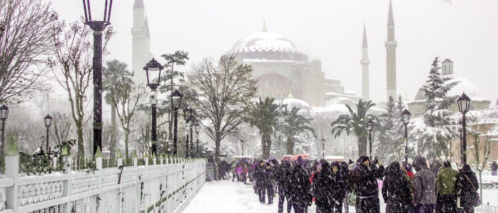 Turkey winter snow makes Istanbul even more magical