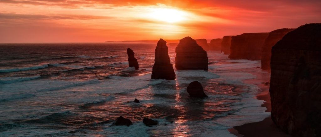 Twelve Apostles, a natural rock formation to visit Victoria, Australia, and a see.