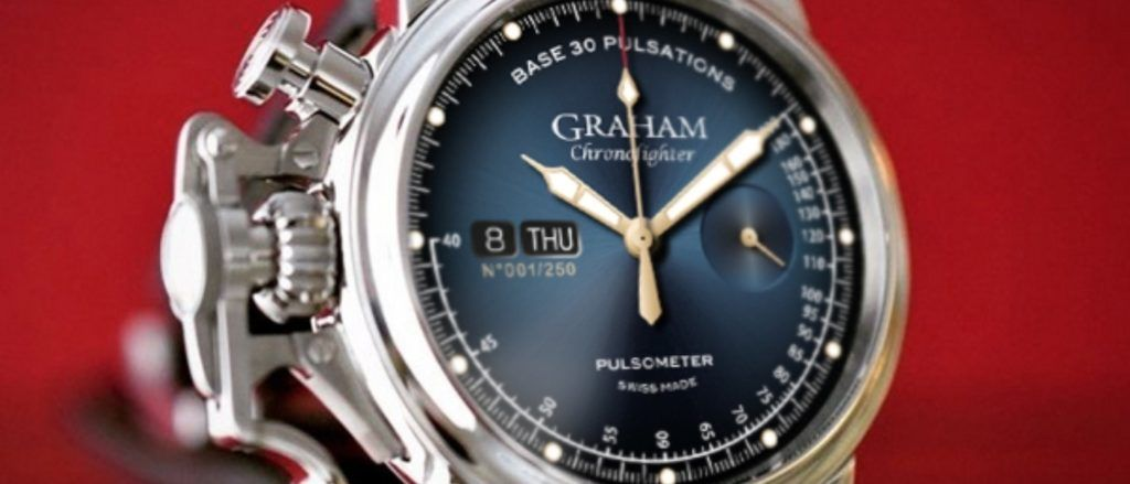 The Graham Chronofighter Vintage Pulsometer features an analogue pulsometer.