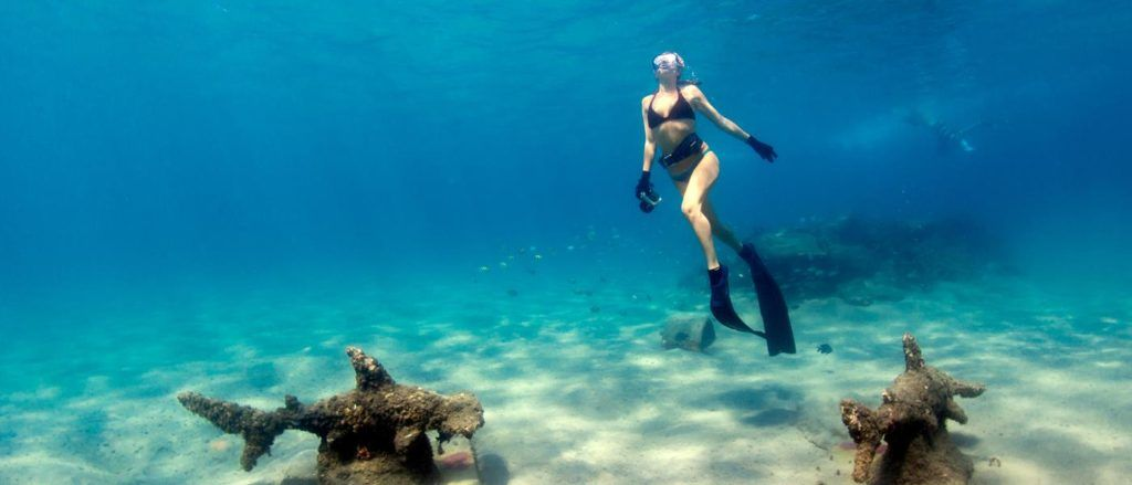 The Palm Beaches in Florida provides excellent scuba opportunities.