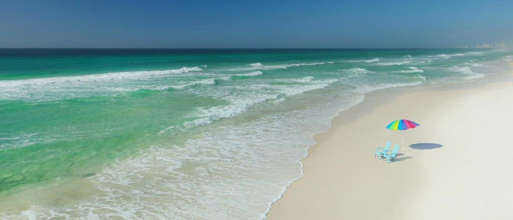 Panama Cit Beach in Florida is one of many spectacular beaches.