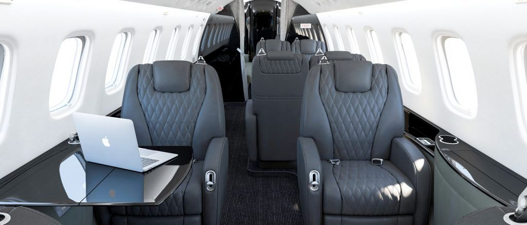 Inside one of Vimana Private Jets.