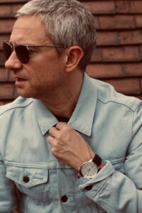 Martin Freeman wears watches from The Camden Watch Company