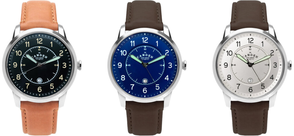 Watch designs from The Camden Watch Company