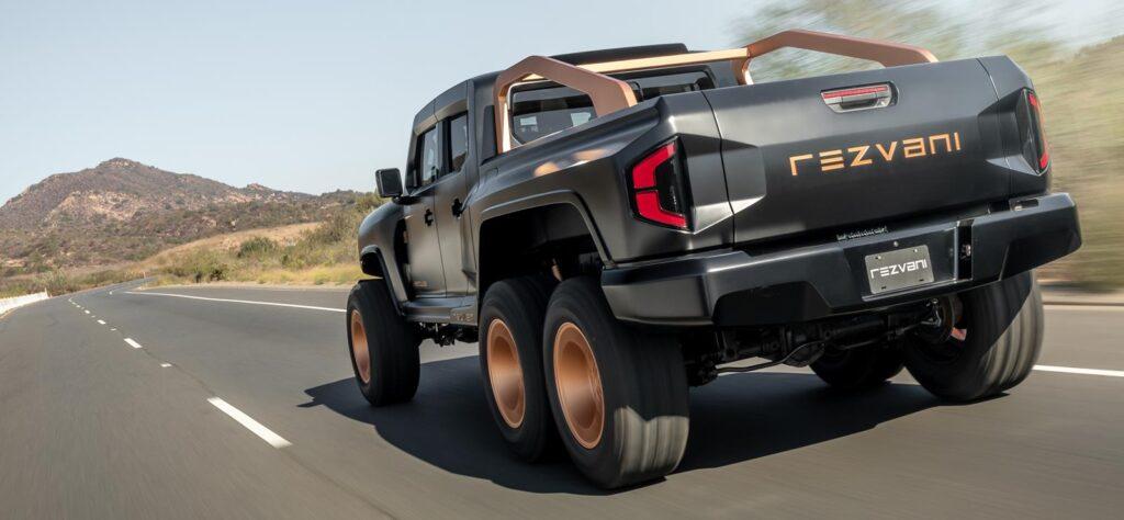 Rezvani Hercules 6x6 on the road