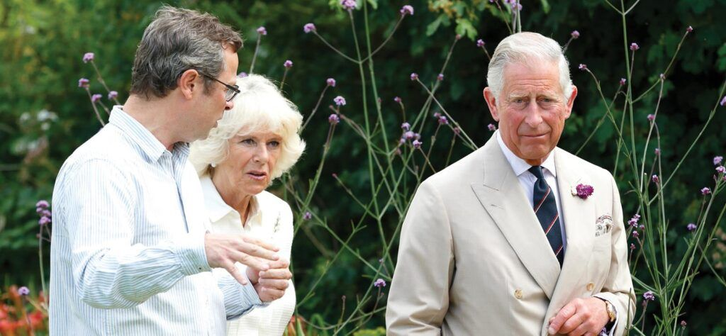 Hugh Fearnley-Whittingstall with Prince Charles and Camilla, Duchess of Cornwall.