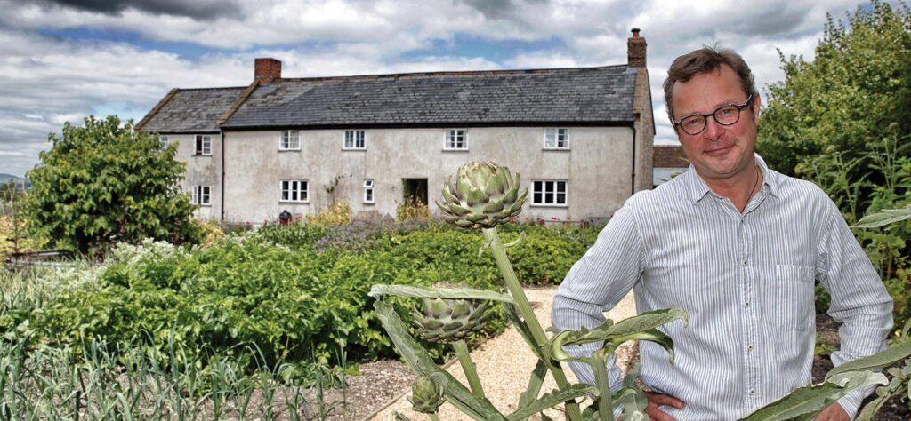 Hugh Fearnley-Whittingstall in his Garden Cottage