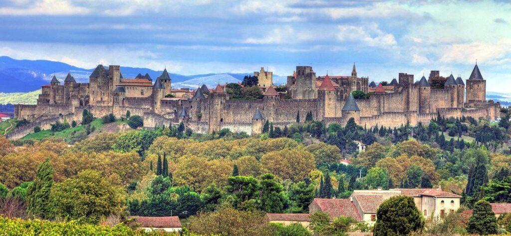 European train tour in Carcassonne