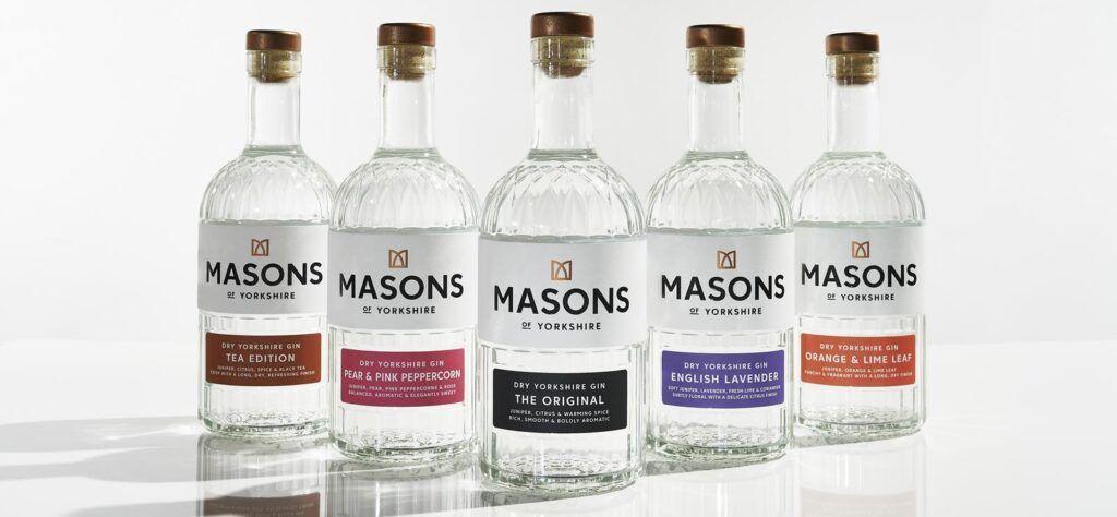 Masons of Yorkshire gin range