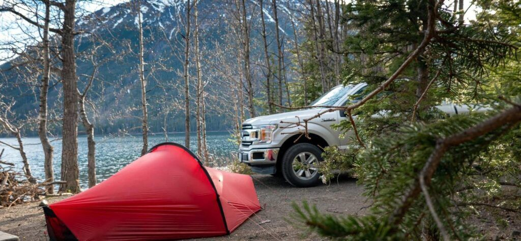 Ford F-150 pickup truck on a Canada road trip