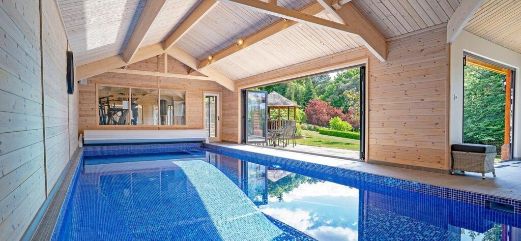 home swimming pool indoors