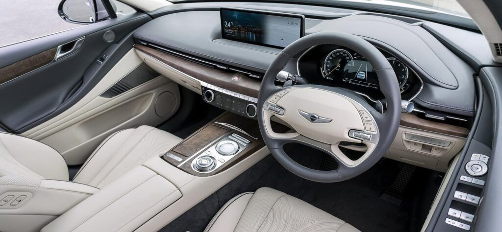 Genesis G80 car interior brand launch